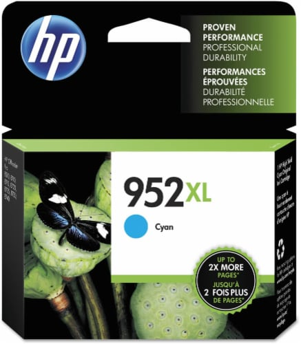HP 952XL Original Ink Cartridge - Cyan Perspective: front