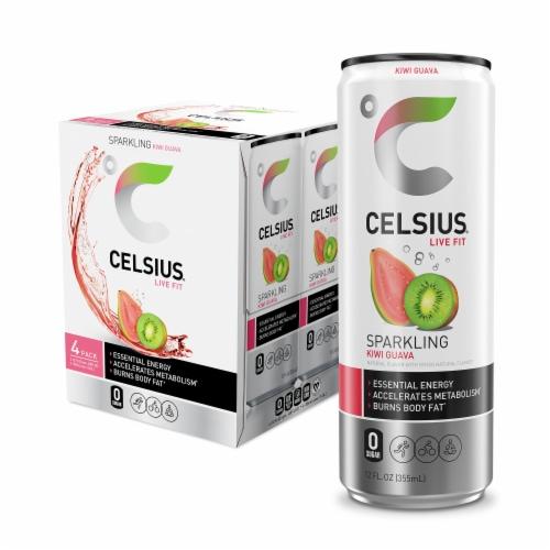 Celsius Kiwi Guava Sparkling Energy Drink Perspective: front