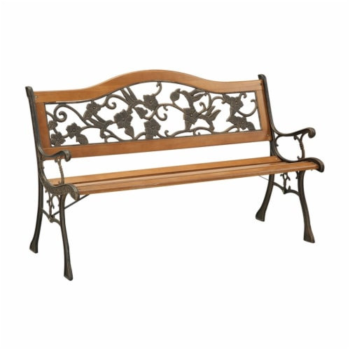 Jardy Patio Bench in Black - Furniture of America Perspective: front