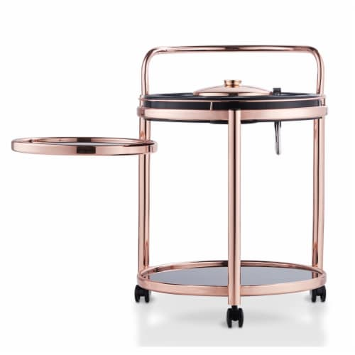 Corvin Swivel Table Kitchen Cart Perspective: front