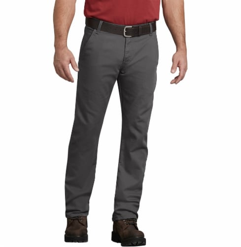 Dickies Men's FLEX Regular Fit Straight Leg Tough Max™ Duck Carpenter Pants - Slate Perspective: front