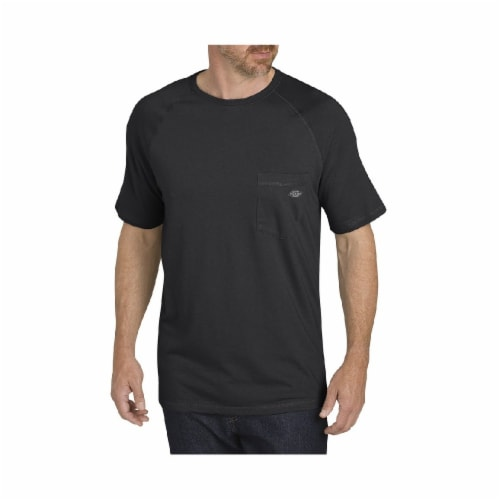 Dickies Mens Temp-iQ™ Performance Cooling T-Shirt - Black Perspective: front
