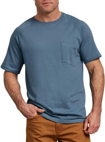 Dickies Mens Temp-iQ™ Performance Cooling T-Shirt - Dusty Blue Perspective: front