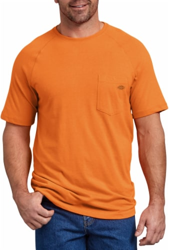 Dickies Mens Temp-iQ™ Performance Cooling T-Shirt - Bright Orange Perspective: front