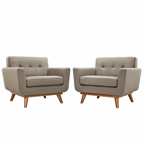 Engage Armchair Wood Set of 2 - Granite Perspective: front