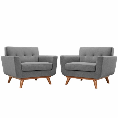 Engage Armchair Wood Set of 2 - Expectation Gray Perspective: front