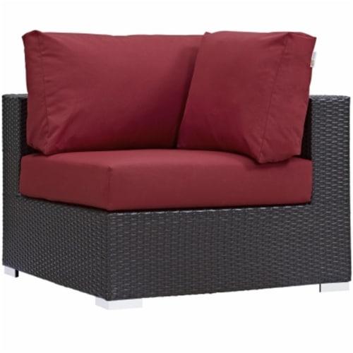 Convene Outdoor Patio Corner - Espresso Red Perspective: front