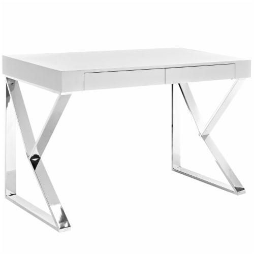 Adjacent Desk - White Perspective: front
