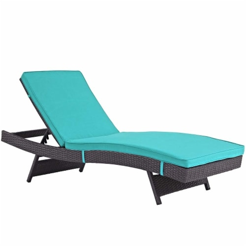 Turquoise Convene Outdoor Patio Chaise Perspective: front