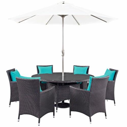 Convene 8 Piece Outdoor Patio Dining Set - Espresso Perspective: front