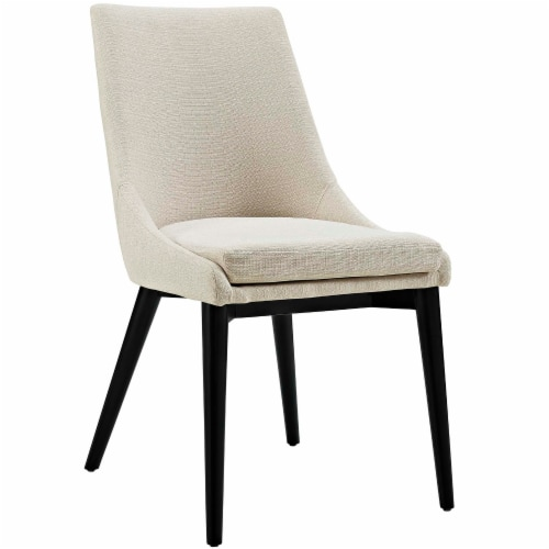 Viscount Fabric Dining Chair - Beige Perspective: front
