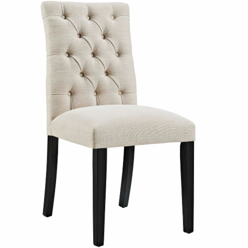Duchess Fabric Dining Chair - Beige Perspective: front