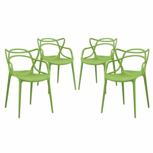 Entangled Dining Set Set of 4 - Green Perspective: front