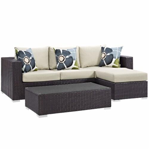 Convene 3 Piece Outdoor Patio Sofa Set Perspective: front