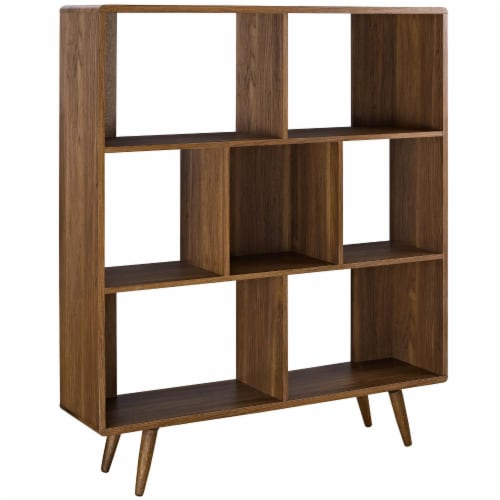 Transmit Bookcase - Walnut Perspective: front