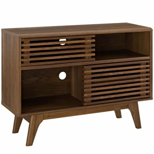 Render Display Stand, Walnut Perspective: front