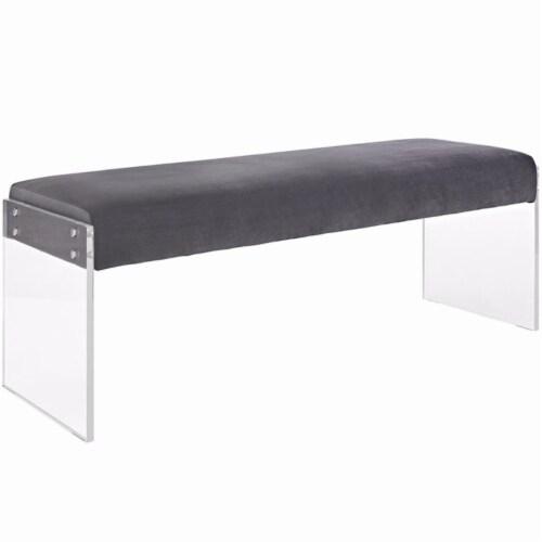 Roam Velvet Bench Perspective: front