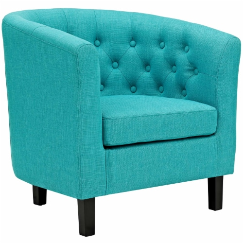 Prospect Upholstered Fabric Armchair - Pure Water Perspective: front