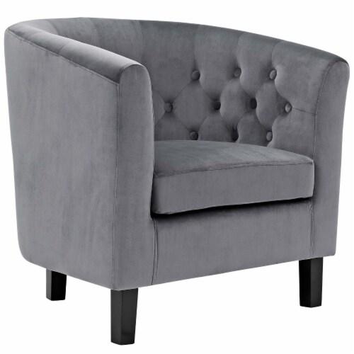 Prospect Velvet Armchair - Gray Perspective: front
