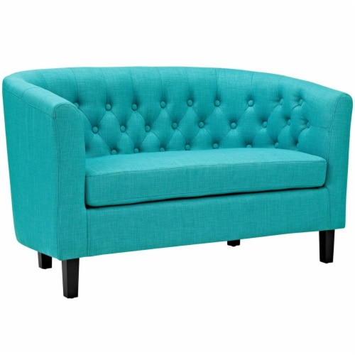 Prospect Upholstered Fabric Loveseat Perspective: front