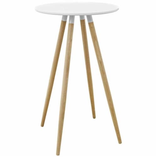 Track Round Bar Table - Whiite Perspective: front
