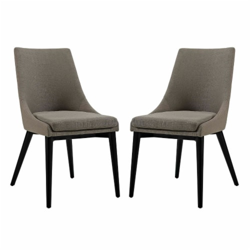 Viscount Dining Side Chair Fabric Set of 2 - Granite Perspective: front
