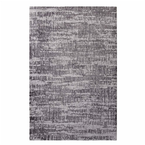 Darja Distressed Rustic Modern 5x8 Area Rug Perspective: front