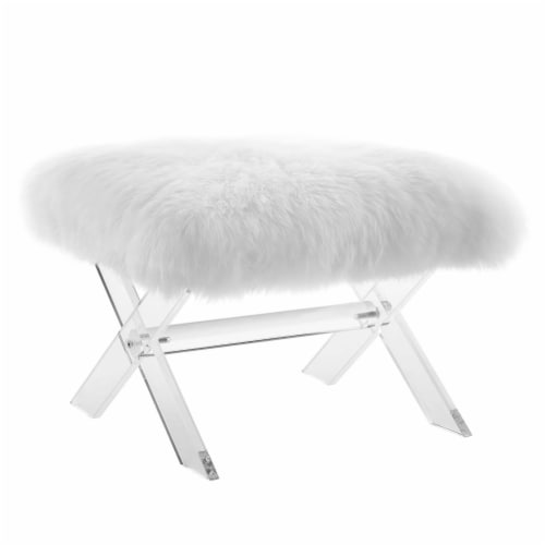 Swift Sheepskin Bench - Clear White Perspective: front