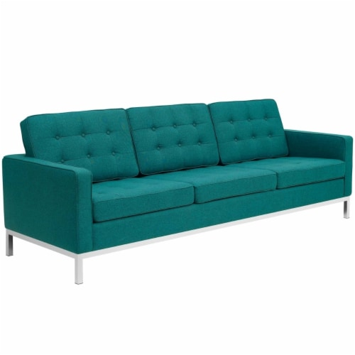 Loft Upholstered Fabric Sofa Perspective: front