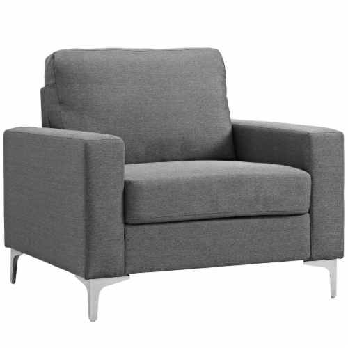 Allure Upholstered Armchair - Gray Perspective: front