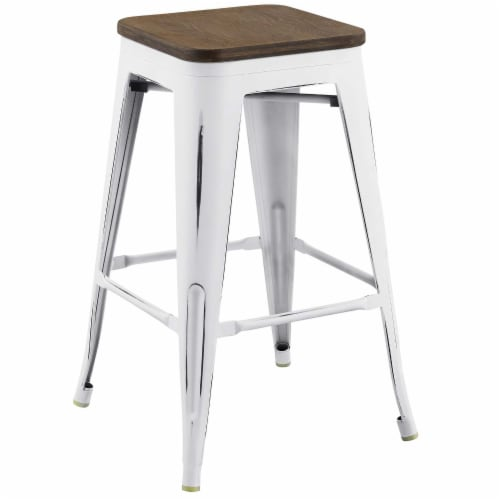 Modway Promenade 26  Counter Stool in White Perspective: front