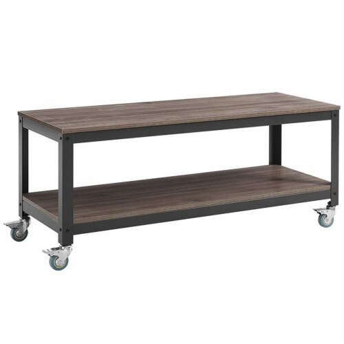 Vivify Tiered Serving or TV Stand Perspective: front