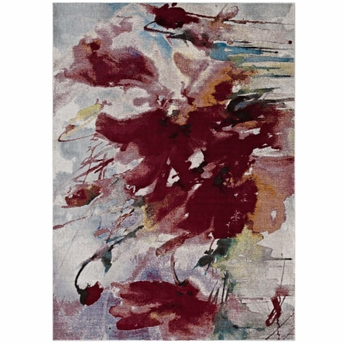 Blume Abstract Floral 4x6 Area Rug Perspective: front