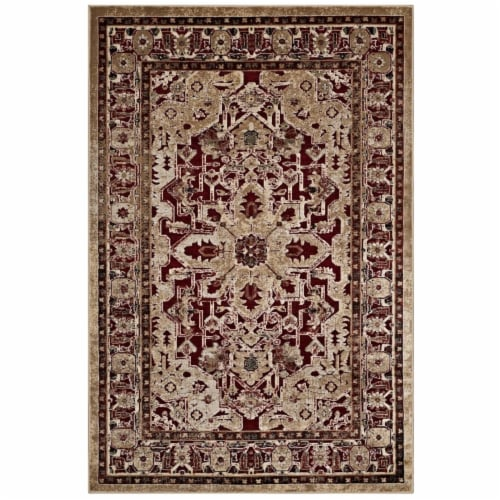 Grania Ornate Vintage Floral Turkish 8x10 Area Rug Perspective: front