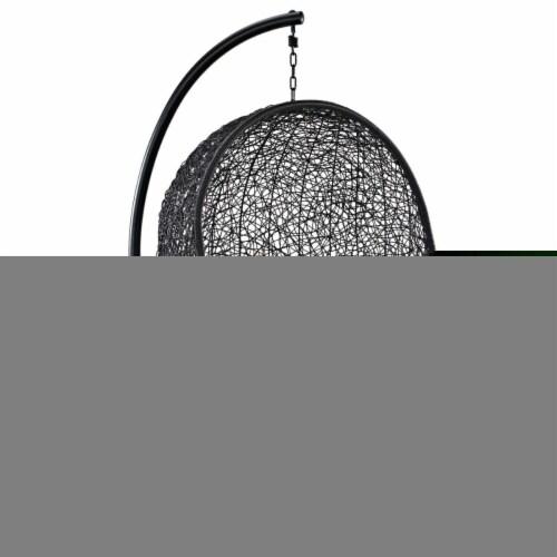 Encase Swing Outdoor Patio Lounge Chair - Orange Perspective: front