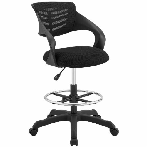 Thrive Mesh Drafting Chair - Black Perspective: front