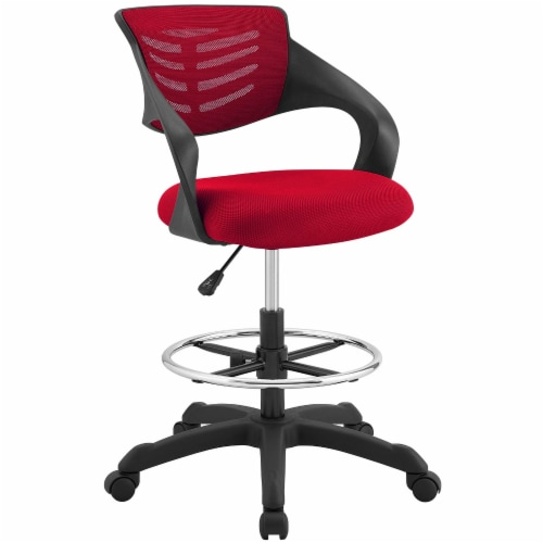 Thrive Mesh Drafting Chair - Red Perspective: front