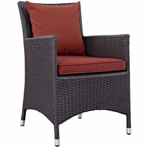 Convene Dining Outdoor Patio Armchair - Espresso Curant Perspective: front