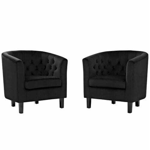 Prospect 2 Piece Velvet Armchair Set - Black Perspective: front