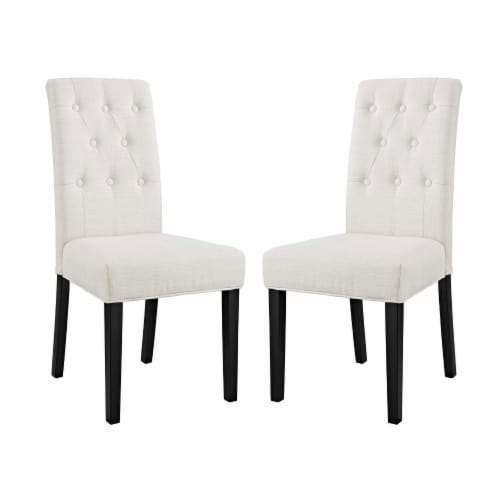 Confer Dining Side Chair Fabric Set of 2 - Beige Perspective: front