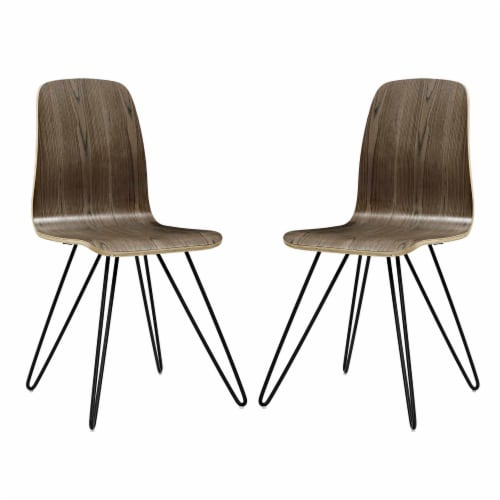 Drift Dining Side Chair Set of 2 - Walnut Perspective: front