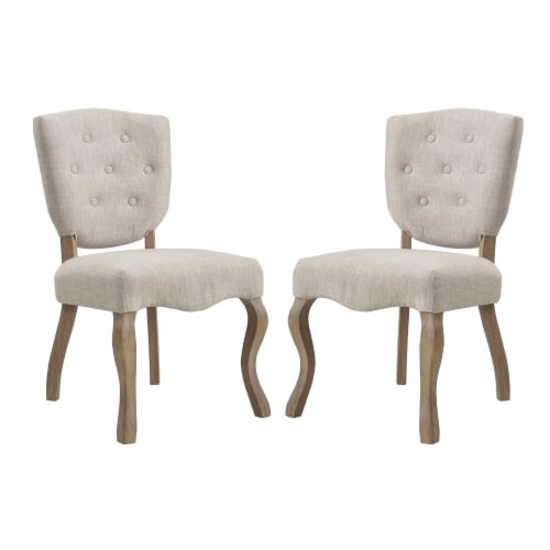 Array Dining Side Chair Set of 2 - Beige Perspective: front