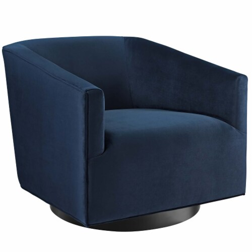Twist Accent Lounge Performance Velvet Swivel Chair Perspective: front