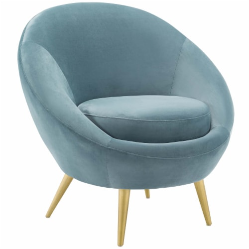 Circuit Performance Velvet Accent Chair Perspective: front