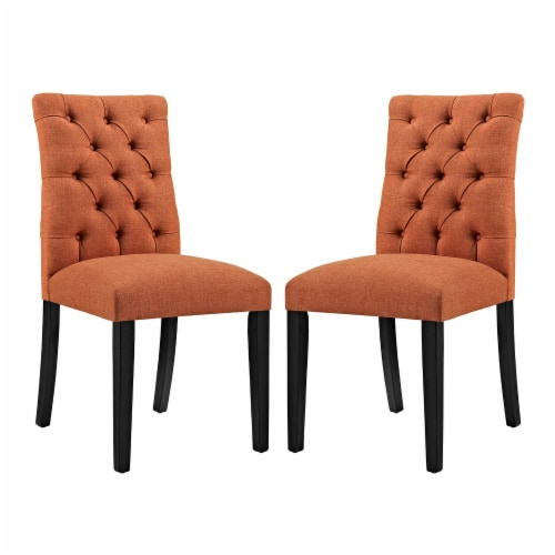 Duchess Dining Chair Fabric Set of 2 - Orange Perspective: front