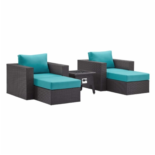 Convene 5 Piece Set Outdoor Patio with Fire Pit Perspective: front