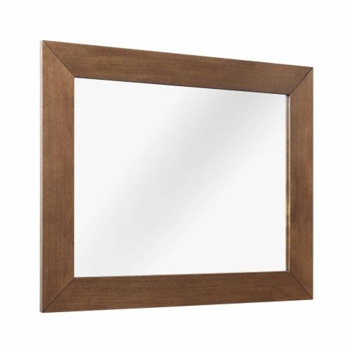 Kali Wall Mirror Walnut Perspective: front