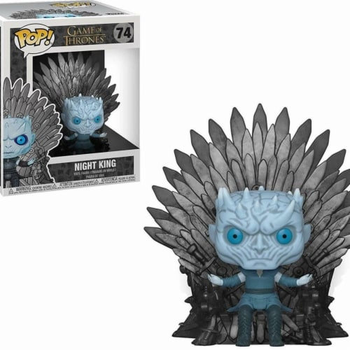 Game of Thrones 111090 Game of Thrones Pop Deluxe GOT S10 Night King Sitting on Throne Action Perspective: front