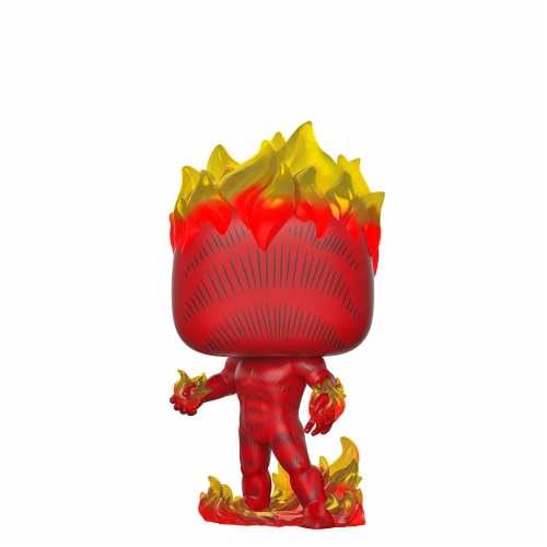 Human Torch 112557 Human Torch Pop Marvel 80th First Appearance Action Figure Perspective: front