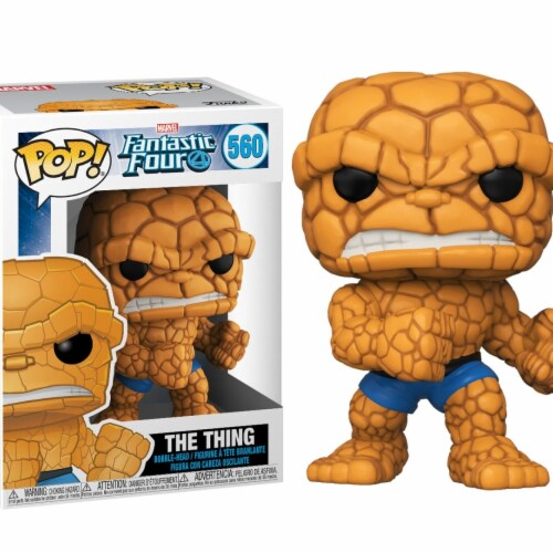 Fantastic 4 Funko Pop Marvel the Thing Action Figure Perspective: front